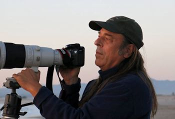 Don Baccus with Camera, photographed by Kate Spencer