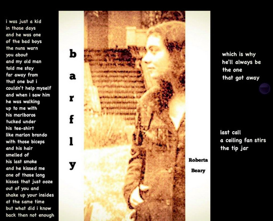 Barfly, ekphrastic haibun by Roberta Beary