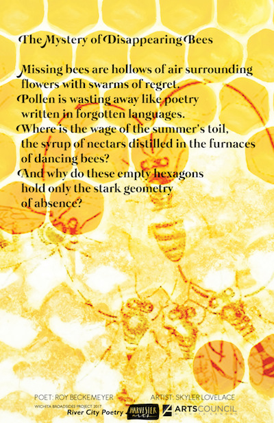 The Mystery of Disappearing Bees, photo-poem by Roy Beckemeyer and Skyler Lovelace