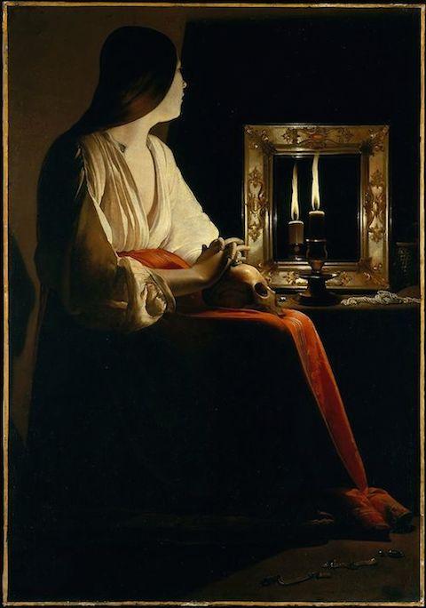 The Penitent Magdalen: Painting (ca. 1640) by Georges de La Tour