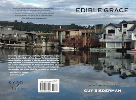 Full cover of Edible Grace, lyrical micro-prose by Guy Biederman