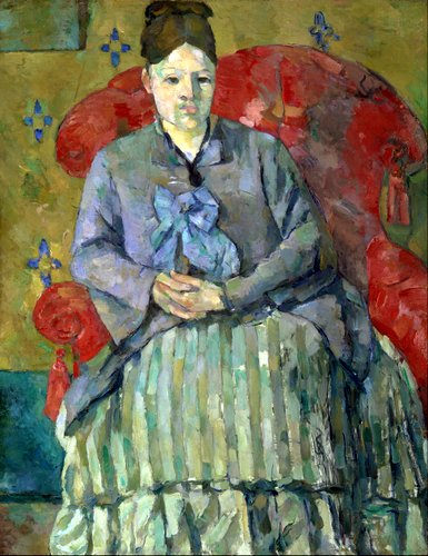 Madame Cézanne in a Red Chair: painting by Paul Cézanne