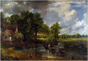 The Hay Wain: 1821 painting by John Constable