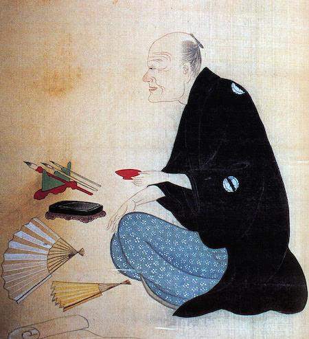 Portrait of Japanese Poet and Fiction Writer Ota Nampo, by Chobunsai Eishi