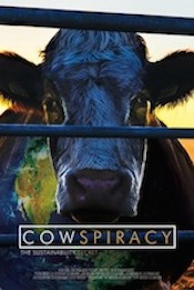 Poster for the documentary film, Cowspiracy