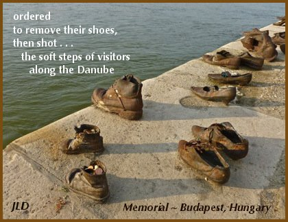 Tanka poem and photograph of Budapest Memorial, by Janet Lynn Davis