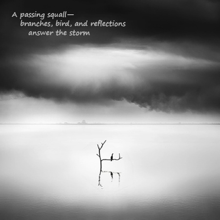 A passing squall: haiga (photograph and poem) by George Digalakis and Gary S. Rosin