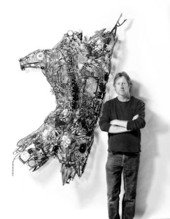Lawrence Feir with interactive figurative sculpture