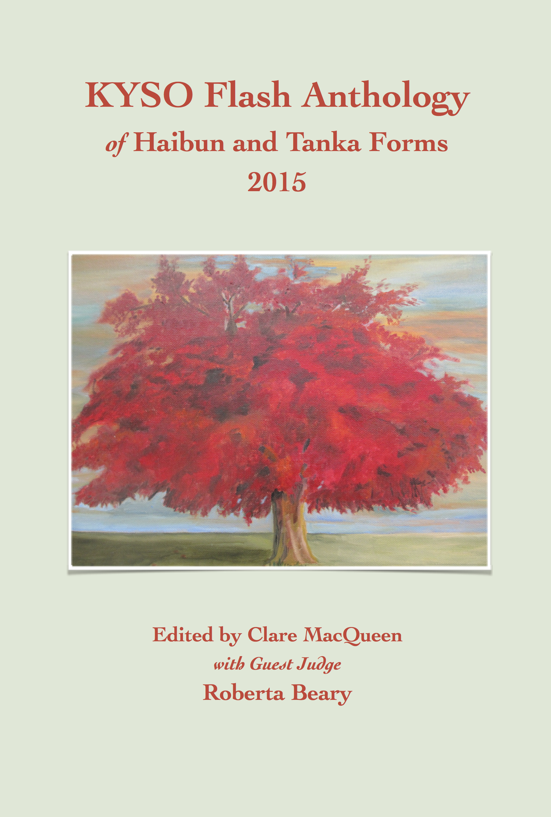 Cover of KYSO Flash Anthology of Haibun and Tanka Forms 2015