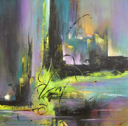 Painting by Sheryl Holland: A Little Night Music: Ode to Mozart