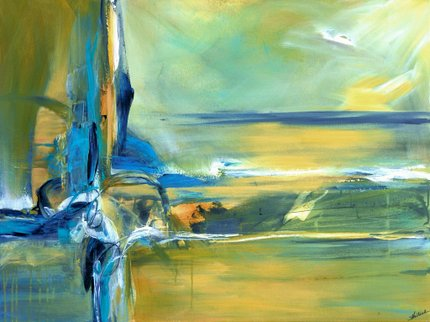Painting by Sheryl Holland: Ocean of Ki