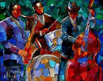 Jazz Garden, painting by Debra Hurd