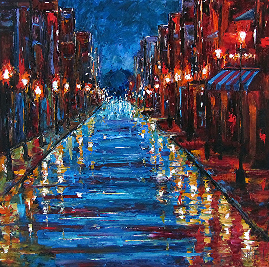 Jazz Street, painting by Debra Hurd