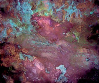 Tailing Sirius, mixed-media painting by John Sokol