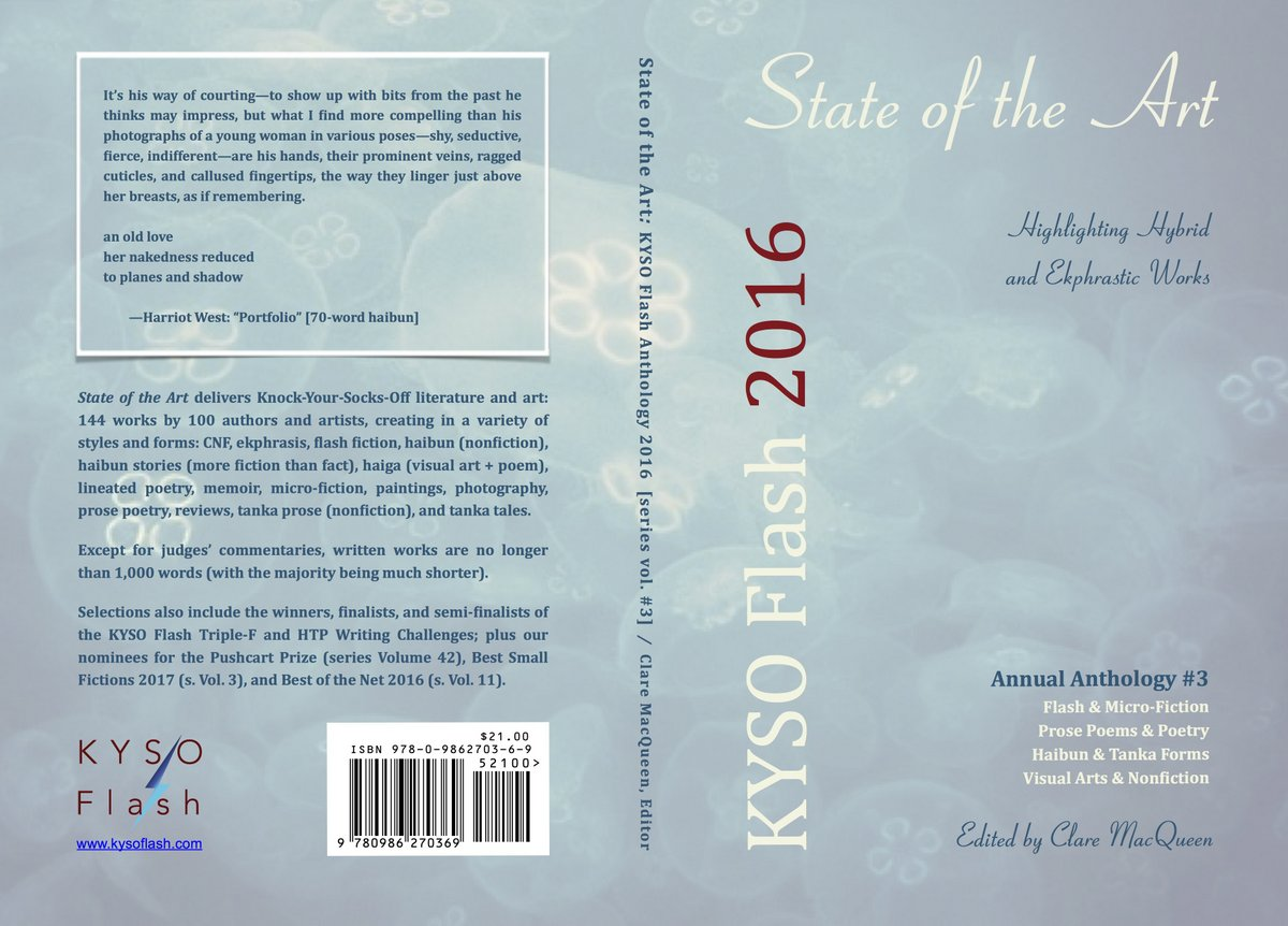 cloudy sky background on cover of KF3 anthology
