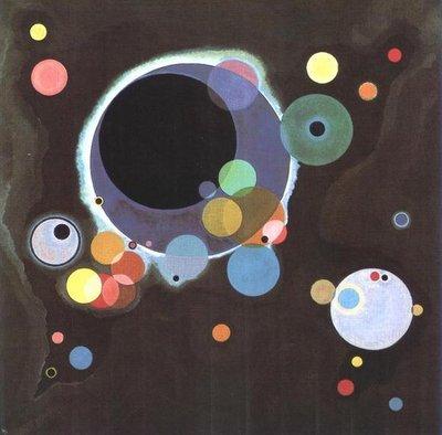 Painting by Vasily Kandinsky: Einige Kreise (Several Circles)