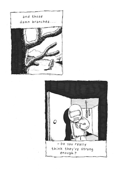Those Branches (Panel 8 of 8), drawings by Janne Karlsson