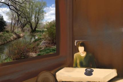 Digital art: [Table by the Window], by An Mayou