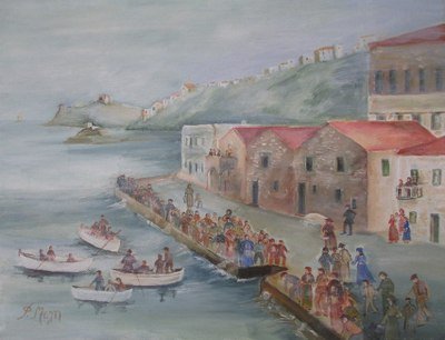 The Old Docks in Hora, Andros, by Frances Melis