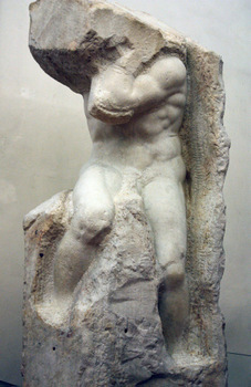 Atlas Slave, sculpture by Michelangelo