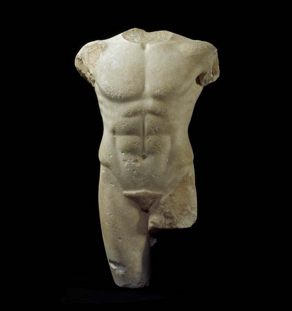 The Miletus Torso, sculpture by unknown artist circa 490 BCE