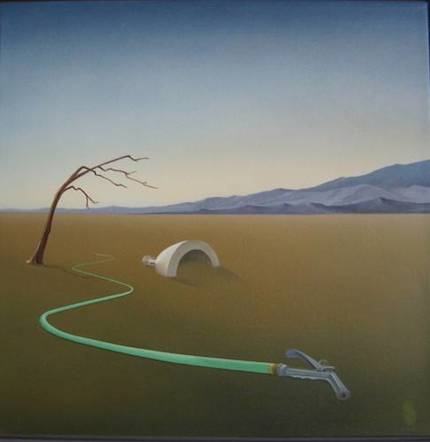 Garden Hose: painting by Pat Napombejra