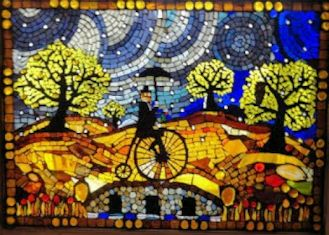 Journeyman 4, fine-art mosaic by Victor Nunnally