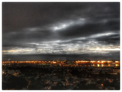 Photograph: Sunset Over San Pedro, by Alexis Rhone Fancher