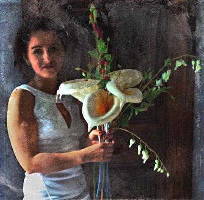 Digital art, Calla Lillies, by Alexis Rotella