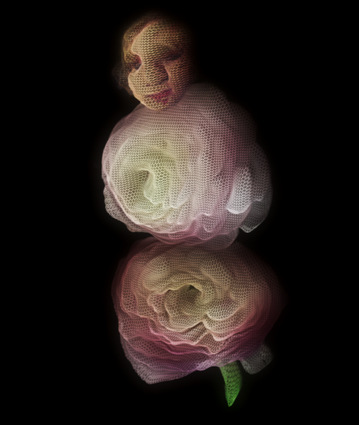 Digital art: Flower Doll, by Alexis Rotella