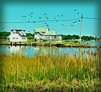 Digital art: Hooper's Island, by Alexis Rotella