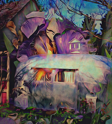 Digital art: Iris Moves Into an Airstream, by Alexis Rotella
