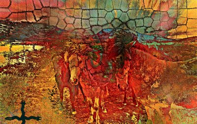 Digital Art, New Mexico Sunset, by Alexis Rotella