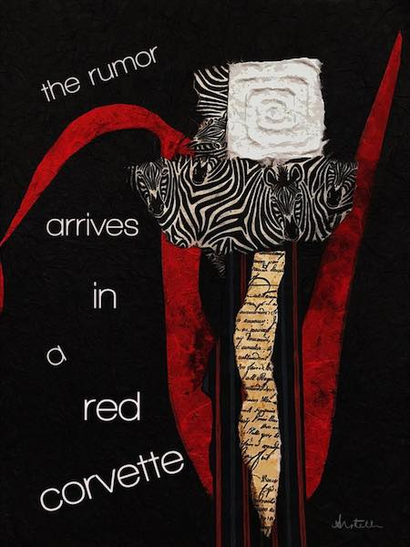 Digital Art: the rumor arrives, haiga by Alexis Rotella