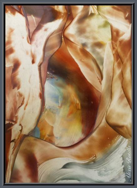 Encaustic, Secret Cavern, by Alexis Rotella