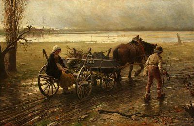 Painting by Jakub Schikaneder: The Sad Way