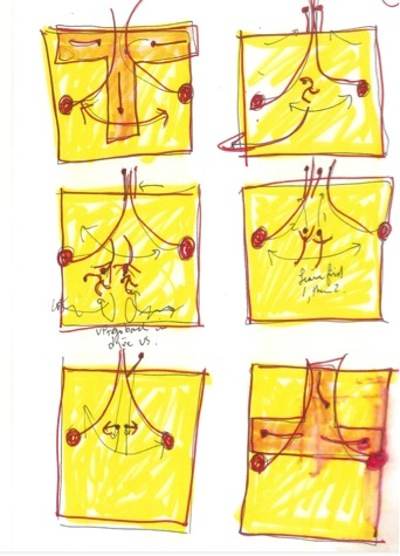 A page from Elizabeth Streb's Choreographic Notes