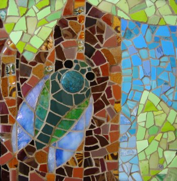 Cicada, Mosaic Art by Michael Sweere