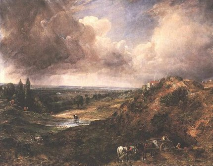 Painting by John Constable: Branch Hill Pond, Hampstead Heath