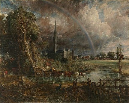 Painting by John Constable: Salisbury Cathedral from the Meadows