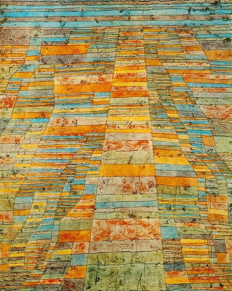 Painting by Paul Klee: Highways and Byways [Hauptweg und Nebenwege]