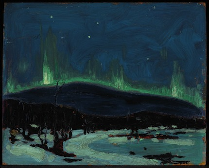 Northern Lights: painting by Tom Thomson, Canada (1917)