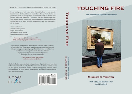 Full cover of Touching Fire, ekphrastic prosimetra by Charles D. Tarlton