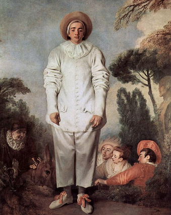 Pierrot, a painting by Antoine Watteau