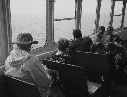 Photograph, Ferry Crossing to Vinalhaven, by Christopher Woods