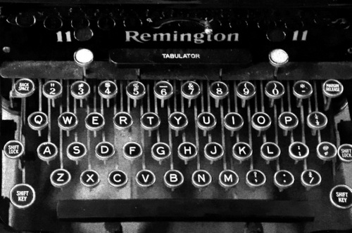 Remington typewriter, photographed by Christopher Woods