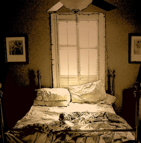 Photograph, The Sunlit Sheets, by Christopher Woods